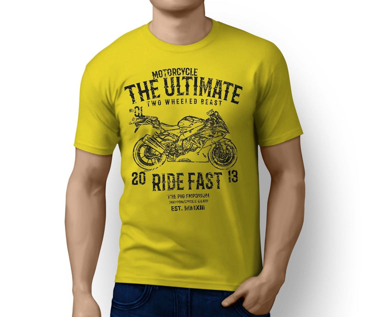 RH Ultimate Illustration For A BMW S1000RR 2016 Motorbike Fan T-shirt