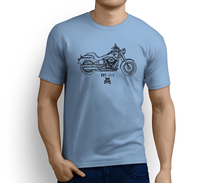 Road Hogs Art Tee aimed at fans of Harley Davidson Fat Boy S Motorbike