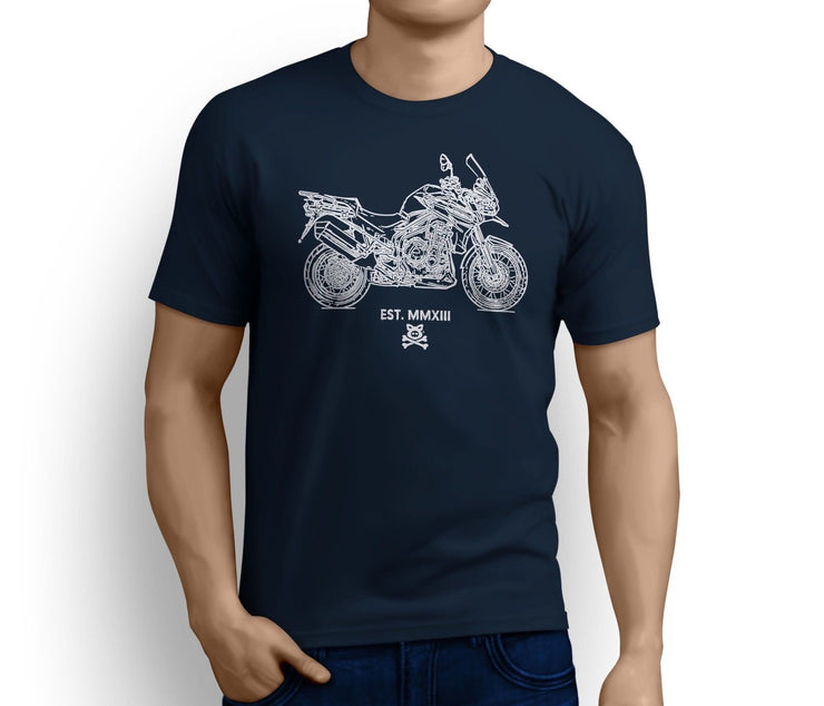 Road Hog Art Tee aimed at fans of Triumph Tiger Explorer Spoked Wheels Motorbike