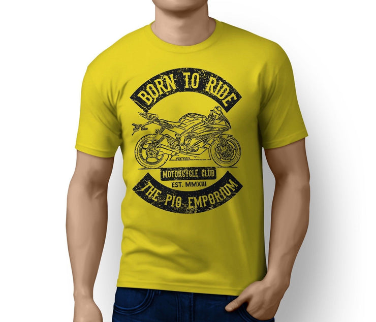RH Born to Ride Illustration For A Yamaha YZF-R6 2007 Motorbike Fan T-Shirt