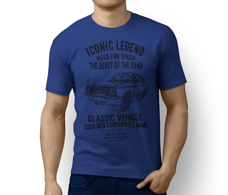 RH Illustration For A Ford Escort Mk2 RS Mexico Rally Motorcar Fan T-Shirt