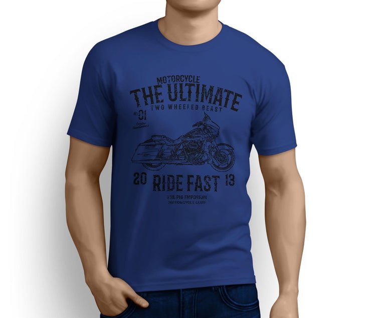RH Ultimate Art Tee aimed at fans of Harley Davidson CVO Street Glide Motorbike