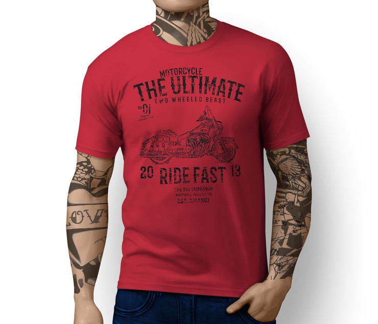 RH Ultimate Illustration For A Indian Chief Vintage Motorbike Fan T-shirt