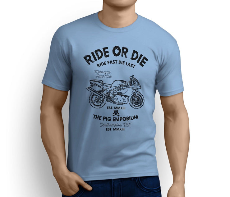 RH Ride Art Tee aimed at fans of Triumph Daytona 995i Motorbike