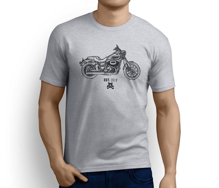 Road Hog Art Tee aimed at fans of Harley Davidson Low Rider Motorbike