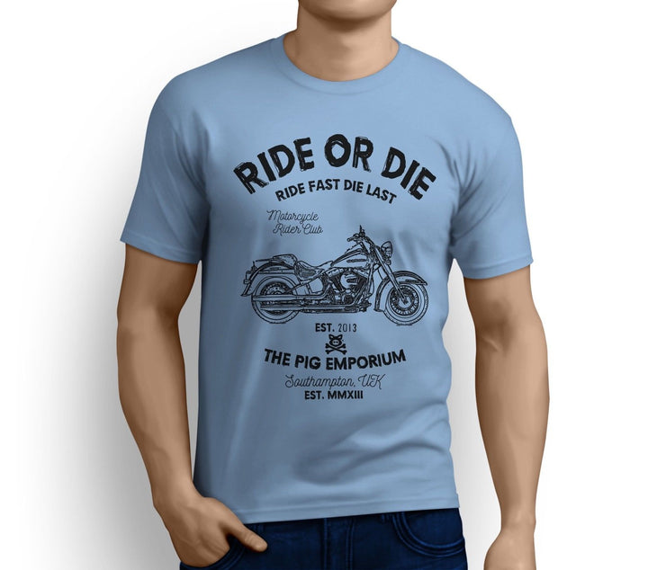 RH Ride Art Tee aimed at fans of Harley Davidson Softail Deluxe Motorbike