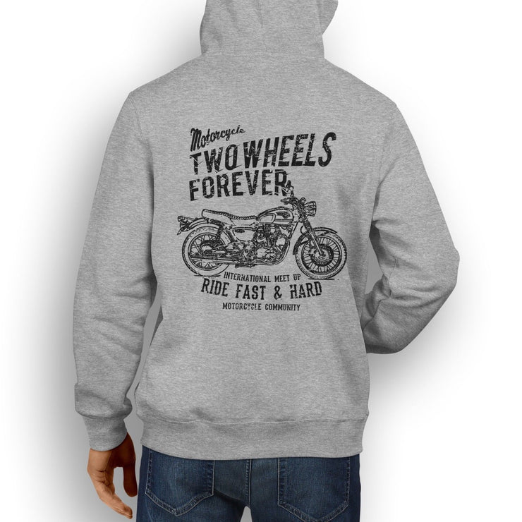 RH Illustration For A Kawasaki W800 2016 Motorbike Fan Hoodie