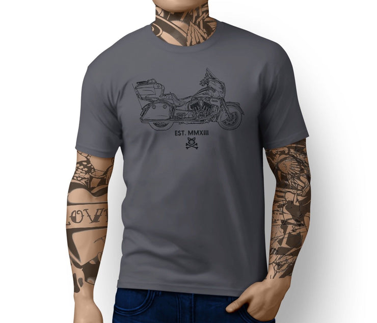 Road Hogs Illustration For A Indian Roadmaster Motorbike Fan T-shirt