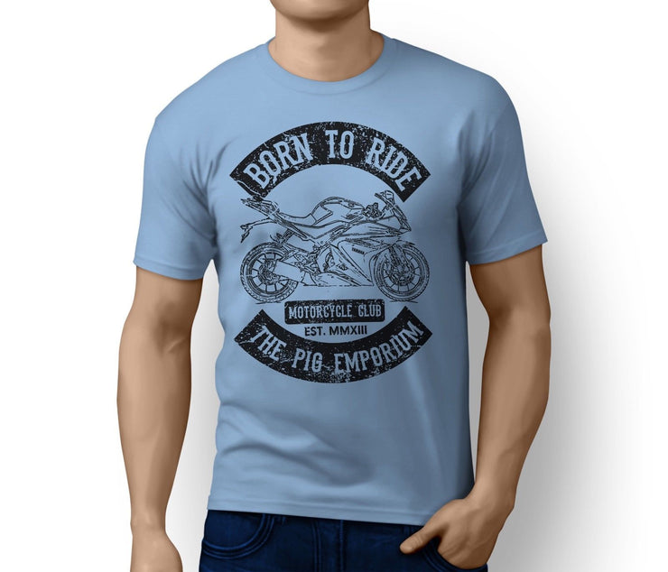 RH Born to Ride Illustration For A Yamaha YZF-R125 2016 Motorbike Fan T-Shirt