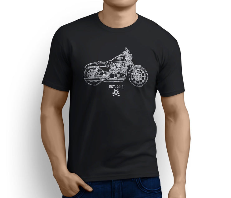 Road Hogs Art Tee aimed at fans of Harley Davidson Iron 883 Motorbike