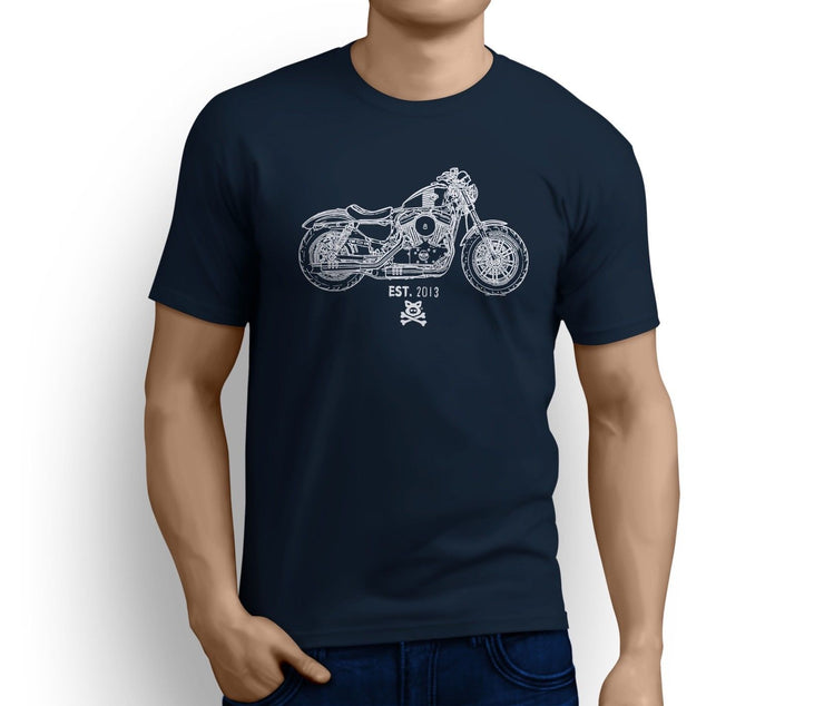 Road Hogs Art Tee aimed at fans of Harley Davidson Forty Eight Motorbike