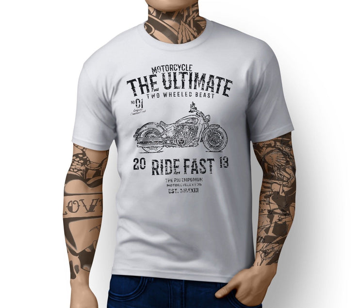 RH Ultimate Illustration For A Indian Scout Motorbike Fan T-shirt