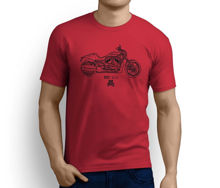 Road Hog Art Tee aimed at fans of Harley Davidson Night Rod Special Motorbike