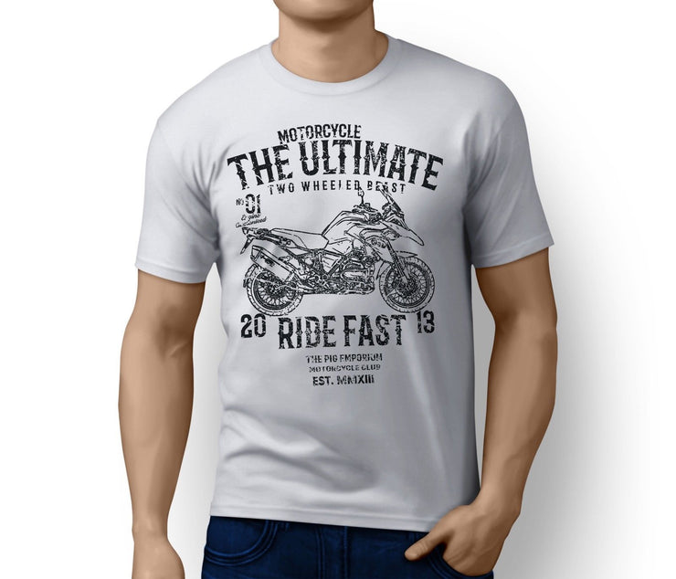 RH Ultimate Illustration For A BMW R1200GS Adventure 2013 Motorbike Fan T-shirt