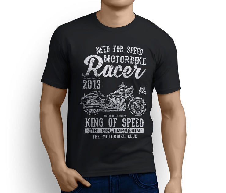 RH King Art Tee aimed at fans of Harley Davidson Fat Boy S Motorbike