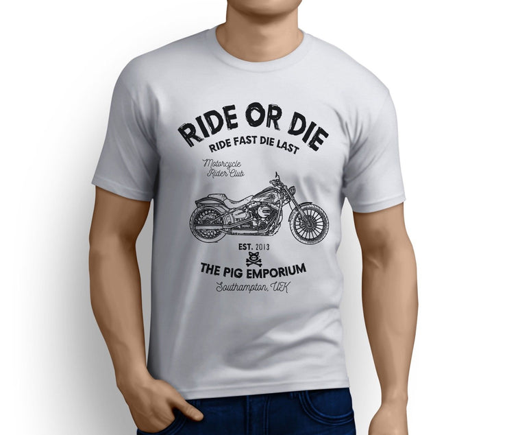 RH Ride Art Tee aimed at fans of Harley Davidson Breakout Motorbike