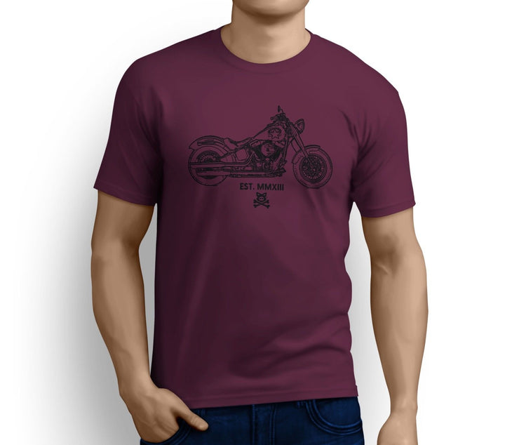 Road Hog Art Tee aimed at fans of Harley Davidson Softail Slim S Motorbike