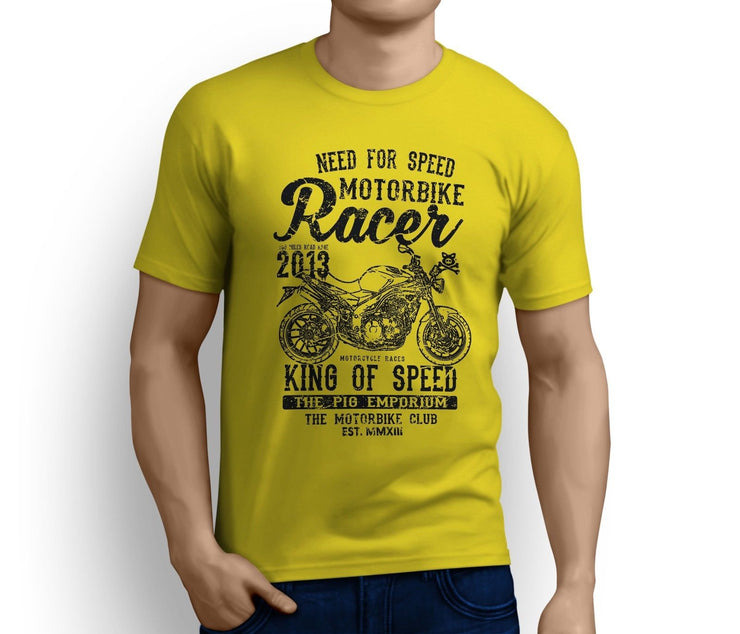 RH King Illustration For A Triumph Speed Triple Motorbike Fan T-Shirt