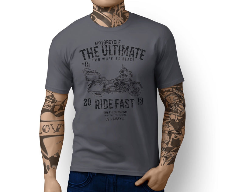 RH Ultimate Illustration For A Indian Roadmaster Motorbike Fan T-shirt