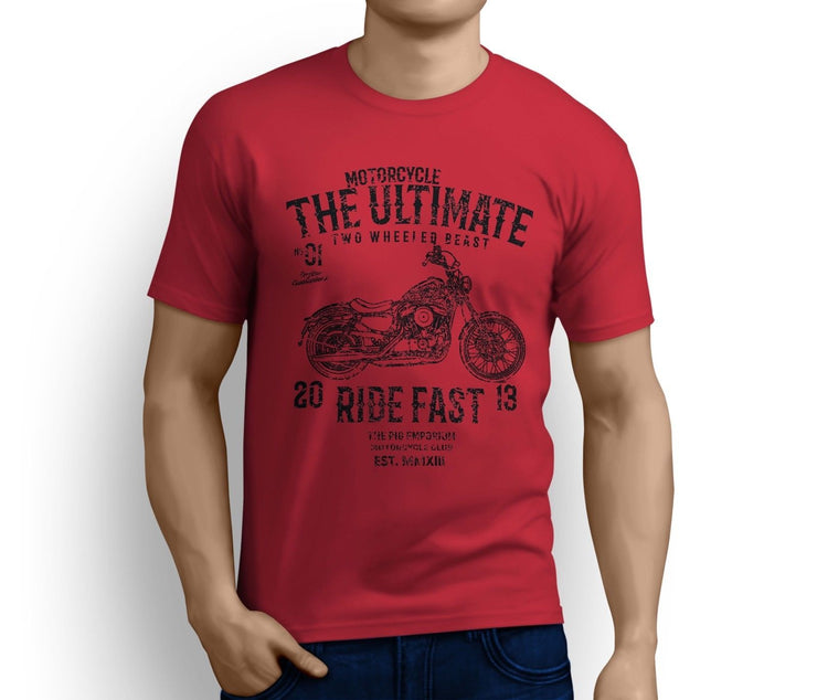 RH Ultimate Art Tee aimed at fans of Harley Davidson Seventy Two Motorbike