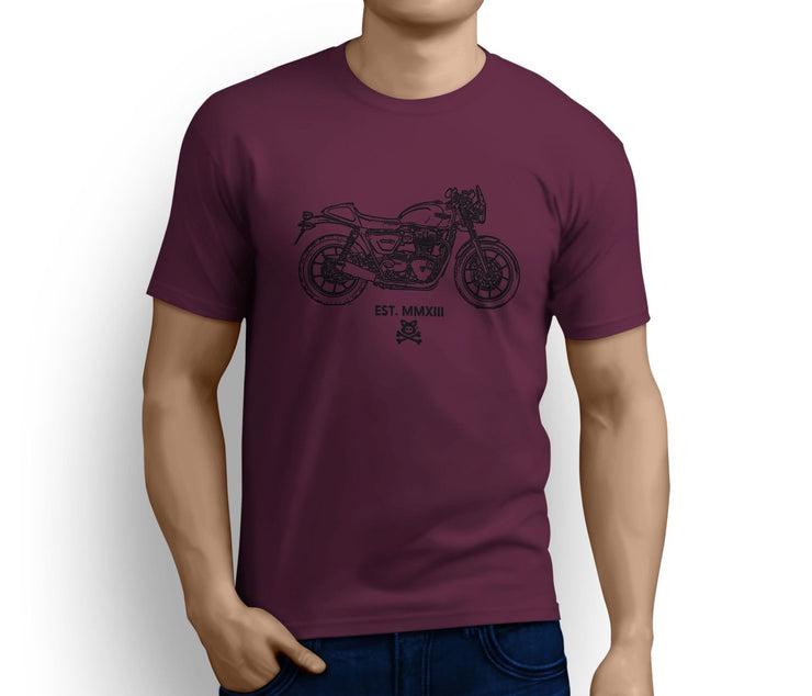 Road Hog Art Tee aimed at fans of Triumph Street Cup Motorbike