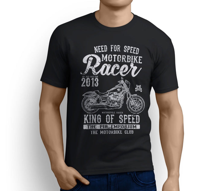 RH King Art Tee aimed at fans of Harley Davidson Low Rider S Motorbike