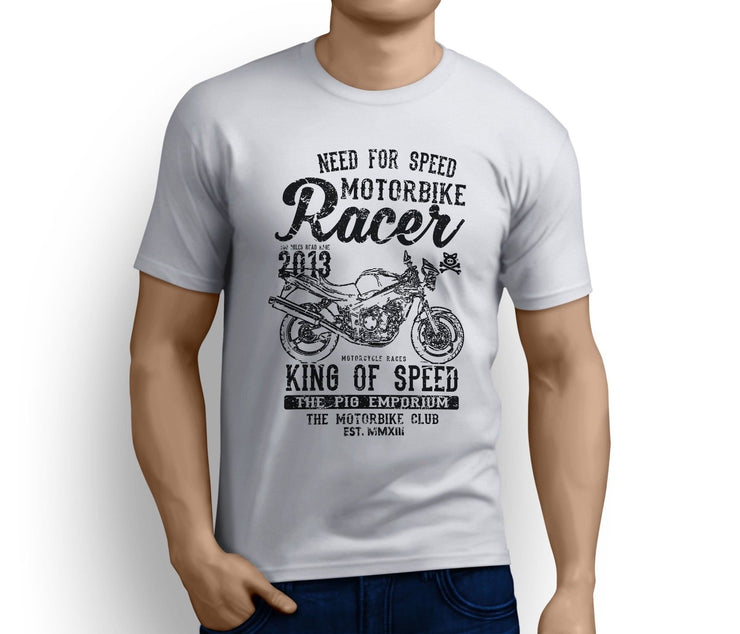 RH King Illustration For A Triumph Speed Four Motorbike Fan T-Shirt