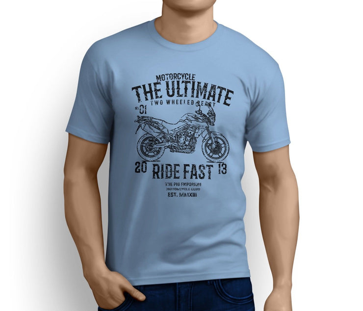RH Ultimate Illustration For A Triumph Tiger 800 Motorbike Fan T-shirt