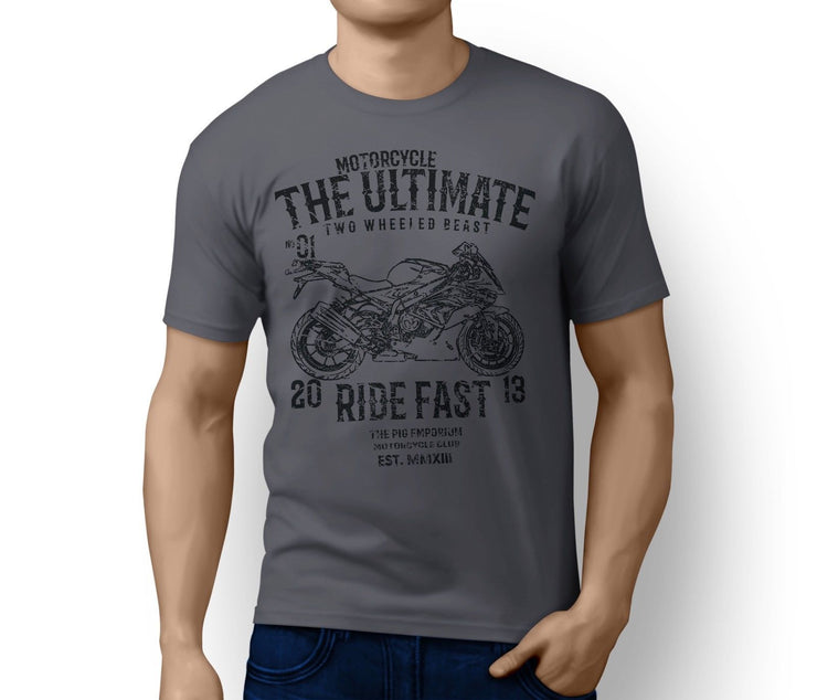 RH Ultimate Illustration For A BMW S1000RR 2017 Motorbike Fan T-shirt