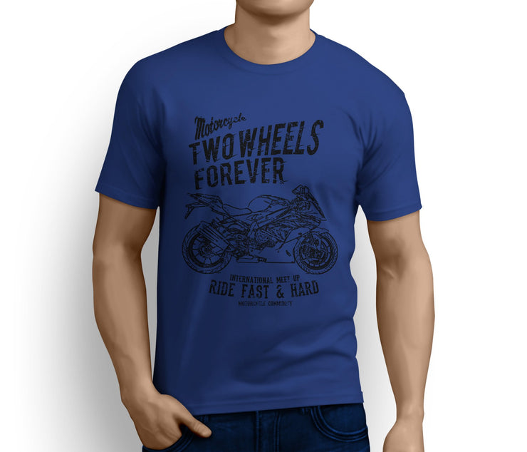 RH Illustration For A BMW S1000RR 2017 Motorbike Fan T-shirt - Jaxon lee