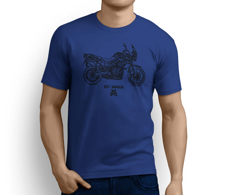Road Hog Illustration For A Triumph Tiger 800 XRT Motorbike Fan T-shirt - Jaxon lee