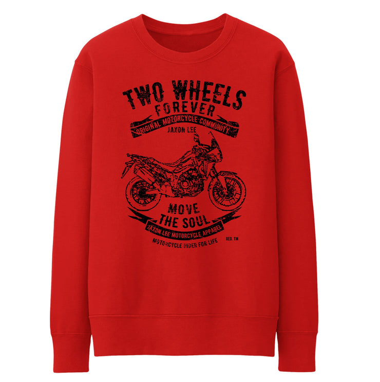 JL Illustration For A Honda Africa Twin 2016 Motorbike Fan Jumper