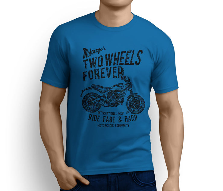 RH Illustration For A Ducati Scrambler Classic 2017 Motorbike Fan T-shirt - Jaxon lee