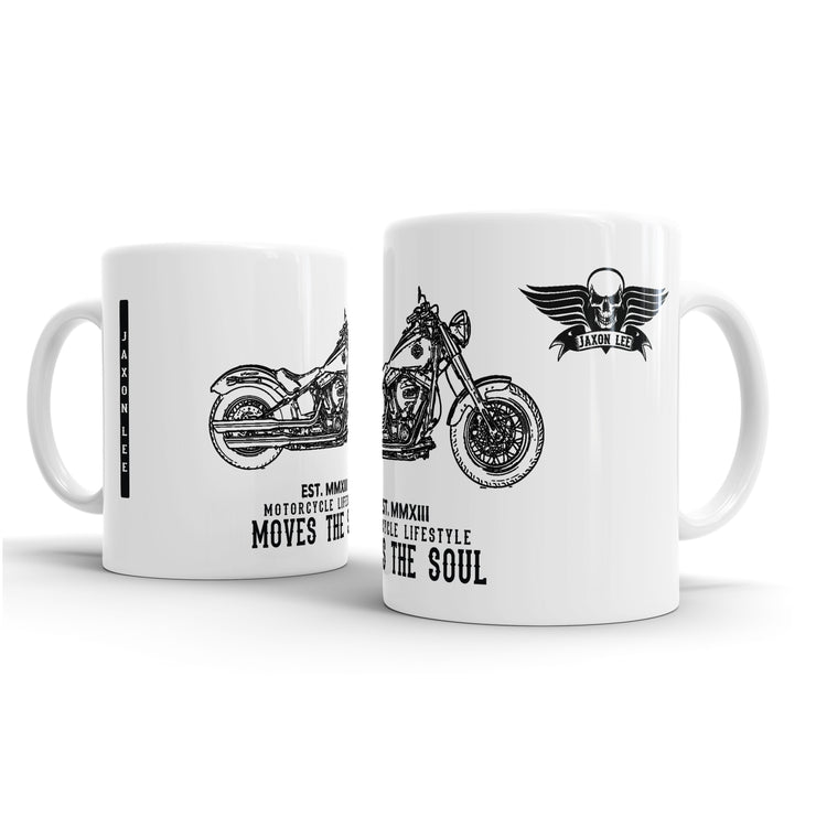 JL Art Mug aimed at fans of Harley Davidson Softail Slim Motorbike
