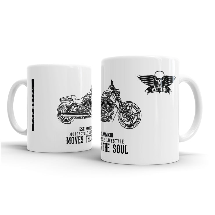 JL Art Mug aimed at fans of Harley Davidson V Rod Muscle Motorbike