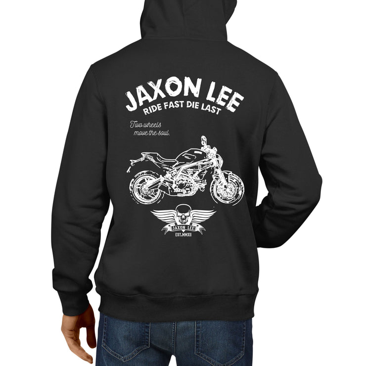 JL Ride Illustration For A Ducati Monster 797 Motorbike Fan Hoodie
