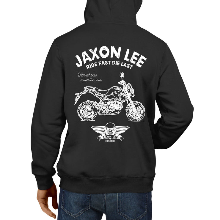 JL Ride Illustration For A Honda Grom Motorbike Fan Hoodie