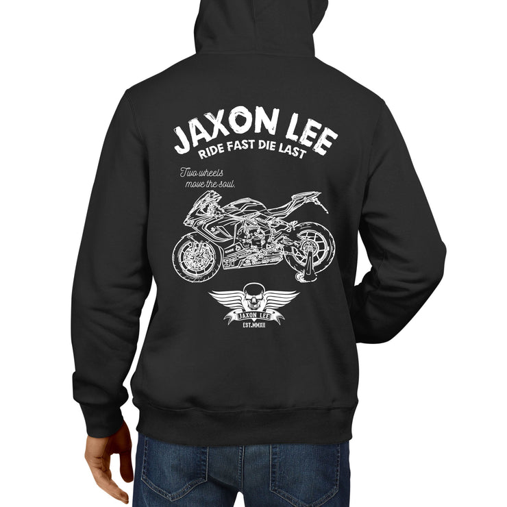 JL Ride Illustration For A MV Agusta F3 800RC Motorbike Fan Hoodie