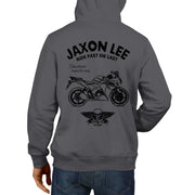 JL Ride Illustration For A Honda CBR125R Motorbike Fan Hoodie