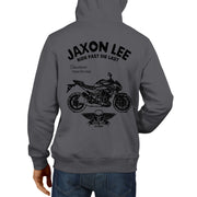 JL Ride Illustration For A Kawasaki Z800 Motorbike Fan Hoodie