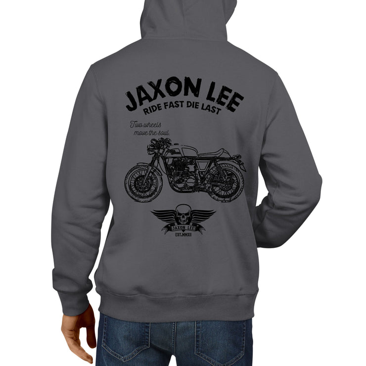JL Ride Illustration For A Royal Enfield Continental GT Motorbike Fan Hoodie
