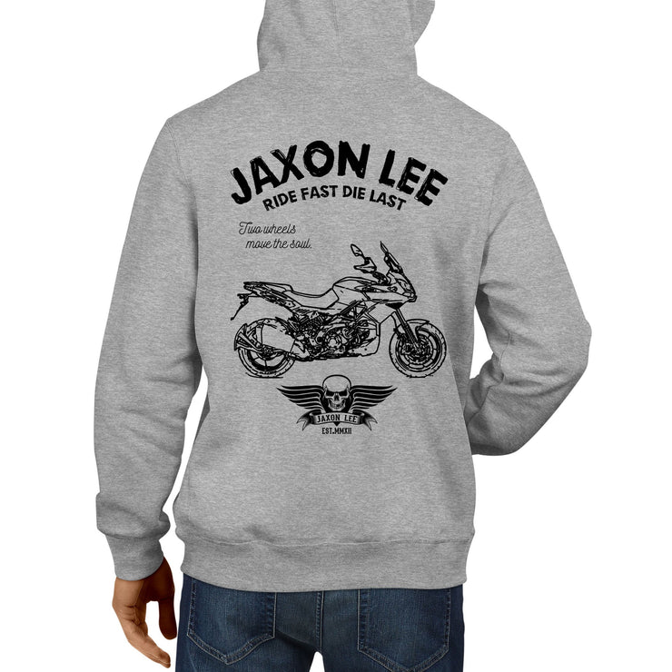 JL Ride Illustration for a Aprilia Caponord 1200 Motorbike fan Hoodie