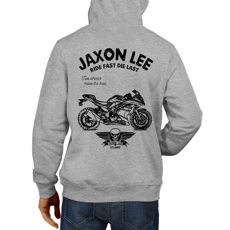 JL Ride Illustration For A Kawasaki Ninja 300 KRT 2017 Motorbike Fan Hoodie