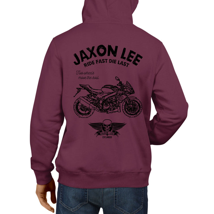 JL Ride Illustration for a Aprilia Tuono V4 1100RR Motorbike fan Hoodie