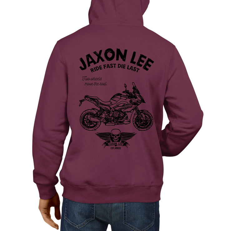 JL Ride Illustration For A BMW S1000XR 2017 Motorbike Fan Hoodie