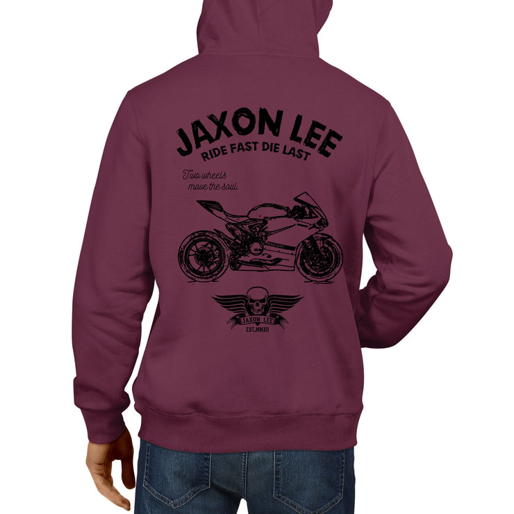 JL Ride Illustration For A Ducati 1198 Panigale R Motorbike Fan Hoodie