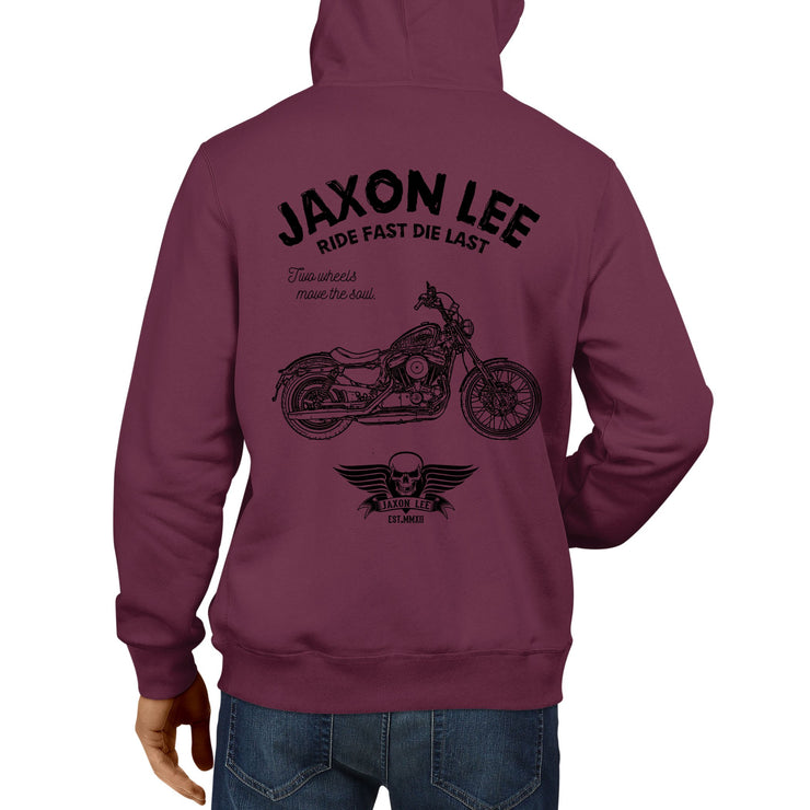 JL Ride Art Hood aimed at fans of Harley Davidson Seventy Two Motorbike