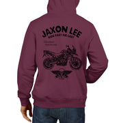 JL Ride Illustration For A Triumph Tiger 800XC Motorbike Fan Hoodie