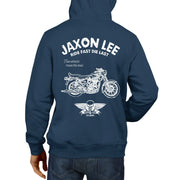 JL Ride Illustration For A Royal Enfield Bullet G5 Deluxe Motorbike Fan Hoodie