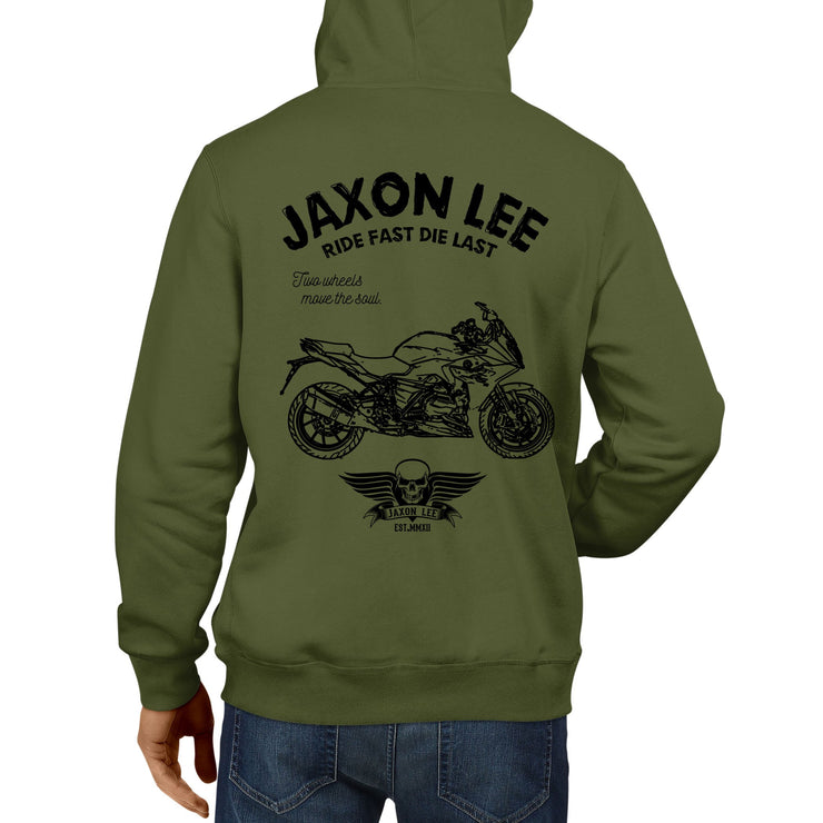JL Ride Illustration For A BMW R1200RS 2017 Motorbike Fan Hoodie